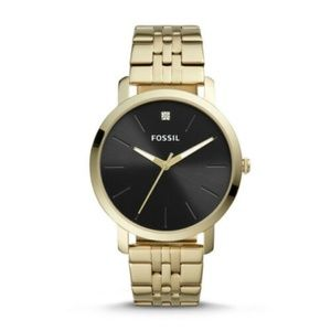 Fossil BQ2416 Lux Luther Three - Hand Gold Watch